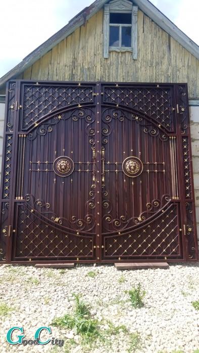 Ворота коричневые