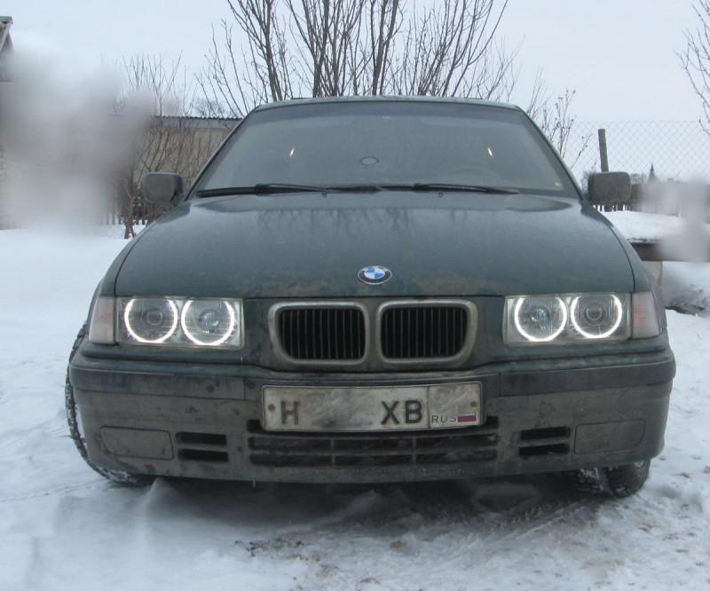 Ремонт и разборка БМВ: устанавливаем CCFL глазки   Hella Black Look на E36 :: Документация :: BMW 3 серия E36 :: RU BMW
